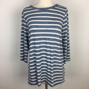 Anthropologie Tops - Sol Angeles Blue Stripe Knit Top Medium